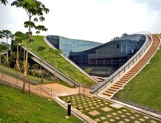 Singapore's green-roofed art school at Nanyang Technological University by CPG Consultants Read more: 6 Exceptional Eco Schools Top Six Green Schools – Inhabitat - Sustainable Design Innovation, Eco Architecture, Green Building