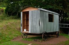 Finally managed to get the tin on our shepherds hut :)