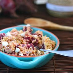 Beet & Goat Cheese Quinoa: only four ingredients!