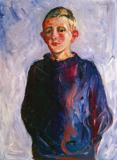 edvard munch(1863-1944), boy from warnemünde, 1907. oil on canvas, 79.5 x 58.5 cm. private collection http://www.the-athenaeum.org/art/detail.php?ID=90125