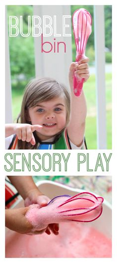 bubble bin sensory play