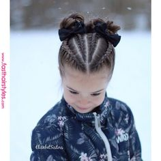braids - Dutch braids and buns inspired by dutchbraid messybun ❄️ Hollantilaisia lettejä ja nutturoita ❄️ Childrens Hairstyles, Baby Girl Hairstyles, Kids Braided Hairstyles, African Braids Hairstyles, Cool Hairstyles, Hairstyles 2018, Weave Hairstyles, Cute Little Girl Hairstyles, Braid Hairstyles