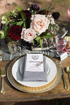 wedding menus - phot