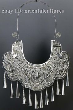 Tribal Exotic Chinese Handmade Miao Silver Necklace | eBay