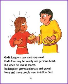 Young children will enjoy reading this story about Jesus' parable of the mustard seed - 'A Tiny Seed and a Big Tree'. Sunday School Lessons, Sunday School Crafts, Ministry Ideas, Youth Ministry, Kids Church, Church Ideas, Mustard Seed Parable, Sabbath School Lesson, Seed Craft