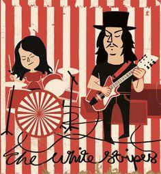 White Stripes | Illustrator: Paul Thurlby - http://www.paulthurlby.com