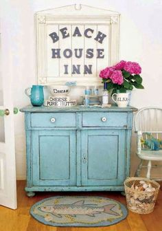 Sea inspired blues in a coatsal cottage
