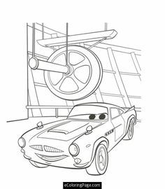 Cars 2 Printable Coloring Pages cars 2 professor z and rod