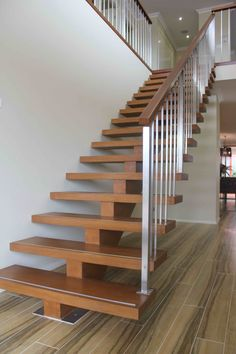 Timber Mono String staircase and handrail-Stair