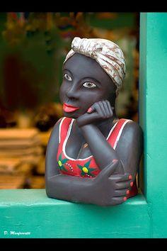 Boneca namoradeira - artesanato Brasil ('Namoradeira' doll, handicraft Brazil)