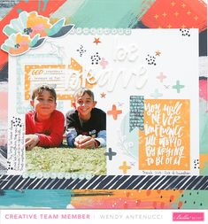 Be Brave - Bella Blvd - Illustrated Faith - All People All Nations Collection Crafts For Kids, Arts And Crafts, Paper Crafts, Travel Scrapbook, Scrapbook Paper, Baby Girl Scrapbook, Crate Paper, Illustrated Faith, Pinterest Diy