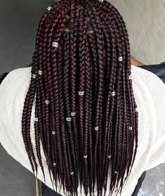 box braids with beads embellishment