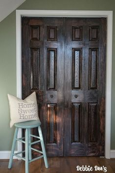 How To Paint A Plain White Door To Look Like Wood
