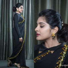 50 unique high neck blouse designs for 60 blouse designs photos that will front fy tie full sleeve regular cotton saree blouse designs for stylish 25 stylish boat neck blouse … Blouse Back Neck Designs, Black Blouse Designs, Cotton Saree Blouse Designs, High Neck Blouse, Floral Blouse, Sleeveless Blouse, Saree Blouse Models, Saree Dress, Full Sleeves Design