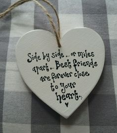 BEST FRIEND GIFT PRESENT HANDMADE HEART BIRTHDAY LEAVING BRIDESMAID MAID HONOUR in Home, Furniture & DIY, Home Decor, Plaques & Signs   eBay!