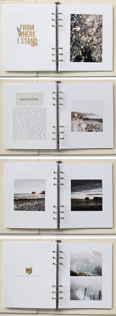 Vanessa Perry - Big Sur Big Ten Album What To Do About Hair Loss After P Album Journal, Scrapbook Journal, Photo Journal, Travel Scrapbook, Journal Pages, Bullet Journal, Memory Journal, Memory Album, Wedding Scrapbook