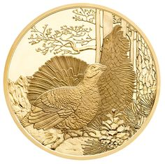 Austria 2015 Wildlife in Our Sights: The Capercaillie 100 Euro Proof Gold Coin