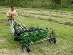 Walk-behind haying equipment is useful for low-acreage jobs