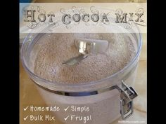 Make your own hot cocoa mix in bulk to replace store-bought hot cocoa mix and save money, control ingredients & enjoy a cup of Homemade Hot Chocolate.