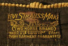 Levi Strauss Make Khakis Pants Label, 1916