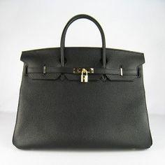 Hermes Birkin Bag Black & Gold*