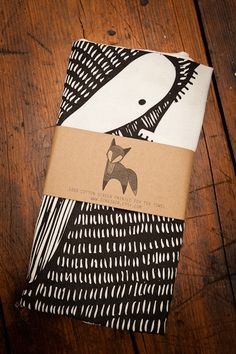 Screen Printed Fox Tea Towels by Gingiber for BourbonandBoots.com