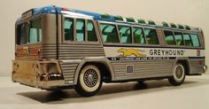 Tin Friction 1964 World's Fair Greyhound Bus Original Box Japan | eBay