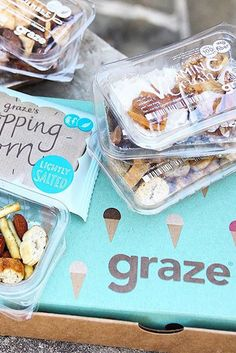 Here at graze we select the healthy foods that actually taste good and handpick your very own snack box, delivered to any UK address. Delicious Snacks, Yummy Food, Snack Recipes, Cooking Recipes, Healthy Recipes, Graze Box, Food Obsession, Healthy Muffins, Health Snacks