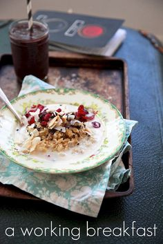 Cranberry Toasted Coconut Flax Seed Oatmeal