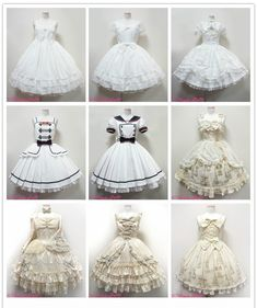 Best 12 Angelic Pretty 2014 – A Year in Ivory and Cream Kawaii Dress, Kawaii Clothes, Kawaii Fashion, Lolita Fashion, Mode Alternative, Anime Dress, Angelic Pretty, Fantasy Dress, Japanese Street Fashion