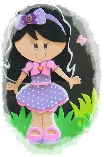 adorable little girl that can be attached to anything you want, or as an… Foam Crafts, Diy And Crafts, Crafts For Kids, Paper Crafts, Paper Piecing Patterns, Felt Patterns, Cute Little Girls, Cute Kids, Photo Pattern
