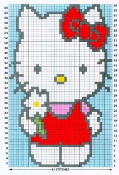 Click the image to enlarge C2c Crochet Blanket, Graph Crochet, Tapestry Crochet, Baby Boy Knitting Patterns, Baby Cardigan Knitting Pattern, Knitting Charts, Hello Kitty Crochet, Hello Kitty Baby, Cross Stitch For Kids
