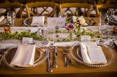 Liz & James' Romantic Industrial Wedding at the Seaport Farmers Market via Elegant Productions | Reception Table Decor Bud Vases