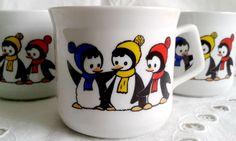 Zsolnay pingvines gyermek bögre