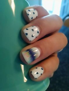 Jamberry Nails Puppy Love and Bright Noise accent nail.