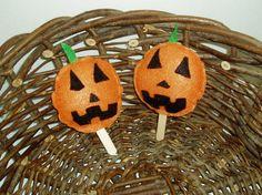 JackoLantern Halloween Pops by BrennysBibbies on Etsy, $2.50