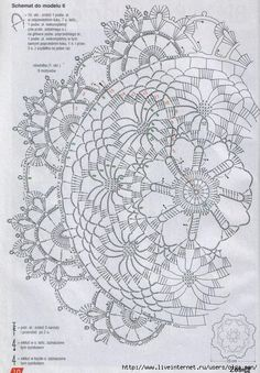 Diagram for Spokes Doily Crochet Tablecloth Pattern, Crochet Doily Diagram, Crochet Motif Patterns, Crochet Chart, Thread Crochet, Filet Crochet, Crochet Designs, Crochet Stitches, Dress Patterns