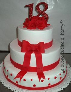 La buona cucina di Katty: Torta rose rosse per il 18° - Cake red roses for 18 th