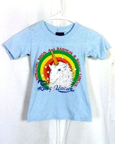 f40cbaca88 vtg 80s thin Ringling Brothers Circus T-Shirt Living Unicorn Youth S  Toddler Ringling Brothers