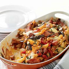 chorizo, vegetable and pasta bake // i love this recipe from waitrose