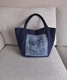 Patchwork Tote Bag, Recycled Jeans and Upholstery Canvas Shoulder Bag, Embroidered Sashiko Style Purse, Floral Roses Fabric Handbag Denim Tote Bags, Floral Tote Bags, Fabric Handbags, Fabric Purses, Denim Shoulder Bags, Canvas Shoulder Bag, Denim Bag Patterns, Green Handbag, Floral Print Fabric