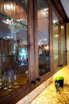 wavy glass cabinet doors