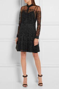 Burberry London   Chantilly lace mini dress   NET-A-PORTER.COM