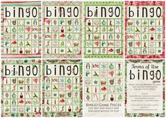 Printable Christmas Bingo Cards
