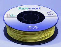 Antibacterial 3D printing filament, Purement, in Yellow www.cleanstrands.com