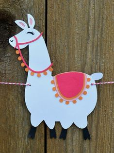 Llama Banner choose your colors Alpaca Mexico Peru Fourth Of July Crafts For Kids, Global Decor, Llama Gifts, Llama Birthday, Llama Alpaca, Festa Party, Paper Crafts, Diy Crafts, Baby Shower