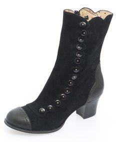 """Black Nancy Boot - There is something very """"Mary Poppins"""" about this boot but I have to admit, I think I like it.  :-)"""