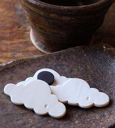 DIY inspiration-Cloud 9 Ceramic Magnet Trio