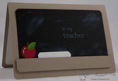 Blackboard Teacher Thank You Card School Scrapbook, Scrapbook Cards, Teacher Appreciation Gifts, Teacher Gifts, Teacher Thank You Cards, Scrapbooking, Graduation Cards, Homemade Cards, Stampin Up Cards