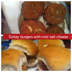Slimming World: Turkey & baby bell burgers: Mix mince (whatever meat you prefer as long as 5% fat) with onion, herbs & small amount passata. Divide into burger size piles, flatten, add a baby bell cheese in middle & surround with mince mixture. Put in oven 180 for about 20 mins. Free syns if use 5% fat mince & brown roll as HEb.